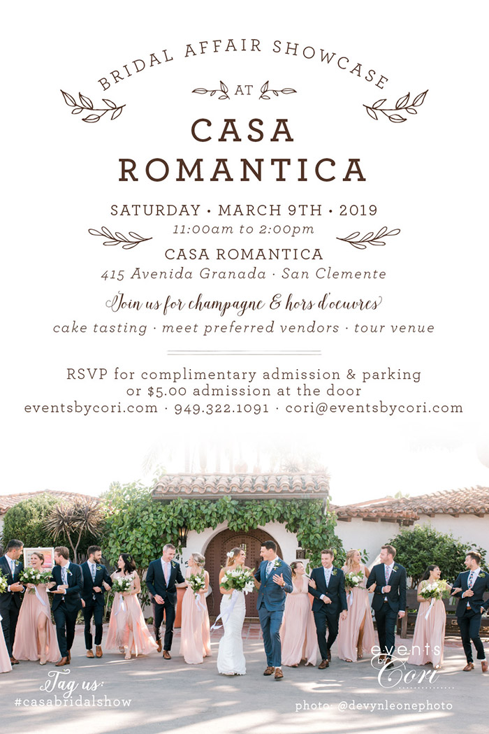 Bridal Show at Casa Romantica